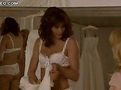 Marvelous Bridget Moynahan In Sexy Underware Trying Her Wedding Dress