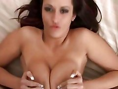 Glamorous brinete does astonishing tittyfuck with her huge boobs