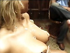 Smokin' Sexy Masked Latin babe Babe Receives Fucked and Covered In Thick Cum