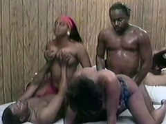 Those two nasty ebony strumpets are really excited and they just cant help...