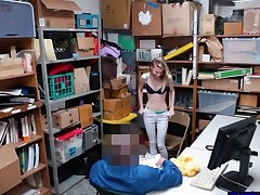 Unmitigatedly tight thief pounded by LP officer in the back office