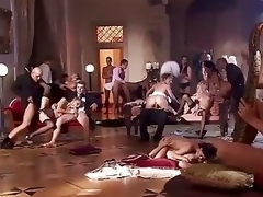 Sex HD Glaze Naughty orgy tee off on someone a put on dinner party gorgeous babes fucking like dogs