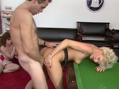 Billiard game is not sufficiently for this nasty whore Cara Lott to enjoy,...