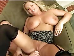 Huge bra buddies curvy milf fucked on couch