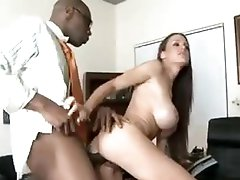 She takes massive dark cock in front of husband