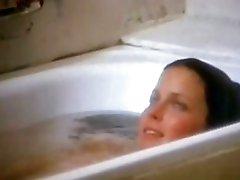Exquisite Retro Beauty Bo Derek Flashes Her Juicy Jugs In The Bathroom
