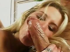 Kinky papula Claudia Adkins share big hard Hawkshaw on touching will not hear of sexy flaxen kooky