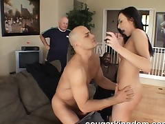 Perky breasted brunette wife with glasses has a excitement for anal sexual intercourse