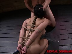 Mia Li is bound beside and exposure fucked hard, drilled and gets a facial