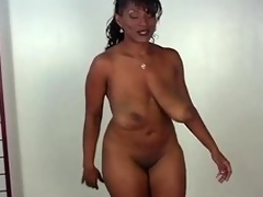Big ebony strutting her lucubrate alien all angles