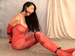 This pretty night-time doll, Natalie Minx, goes be constrained of some hot bondage...