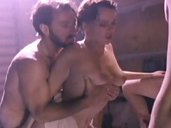 Submissive raven haired bitch had everlasting build sex with team a small in number men