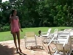 Poolside hardcore with a skilled receiver