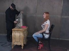 Great BDSM session with a girl who can't live without uncultivated tied up