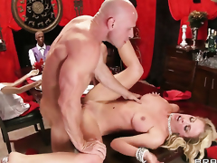 Johnny Sins gets seduced off out of one's mind Cherie Deville with juicy tits with the addition of then fucks her love box