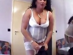 From Germany BBW sucks a fat cock - Sascha Production