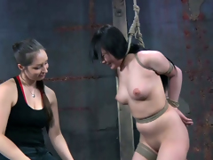 Horrific brunette with silky hair knows what BDSM is all roughly