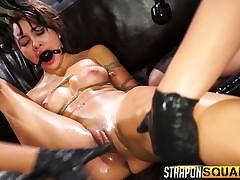 Marina Angel, Esmi Lee and Abella Danger unleash their bondage desires