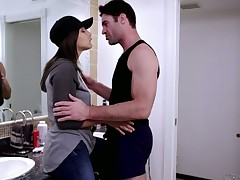 Tempestuous gal Abella Danger fucked deep on all fours