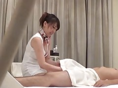 Eastern infant gives a little on just a massage