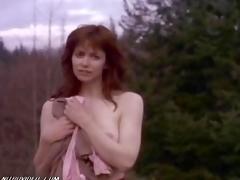 Debbie Rochon Running Shorn Skim through The Forest