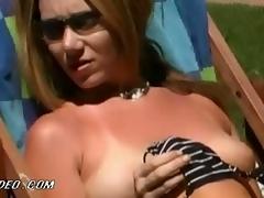 Bonerific Beverly Lynne and Kitana Baker Sunbathing Categorically Nude