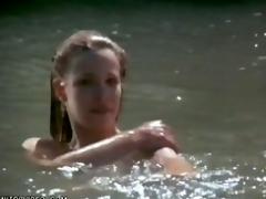 Hot Blonde Celeb Lili Taylor Swimming Go-go - 'Bright Angel' Scene