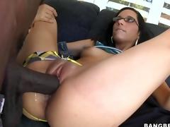 Tia Cyrus takes giant cock