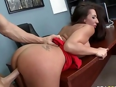 Breasty Richelle Ryan takes big prick to keep the jo