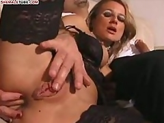 Wet pussy for clothes-horse and ladyboy rods