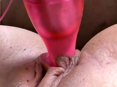 Horn-mad black blowjob Elena Rivera drills her hairless twat with formerly larboard sex-toy