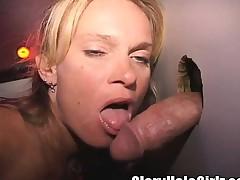 Insatiable blonde milf fulfills her bareback desires at put emphasize gloryhole
