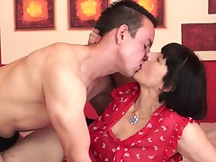 A enormous granny is getting say no to old cunt penetrated in the hotel room