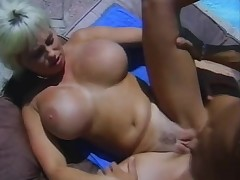 Gender poolside with a retro fair-haired bimbo