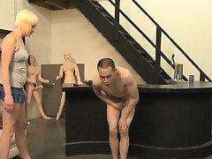 Pretty blonde with lovely tits Nora Skyy ballbusting nearly the toy store