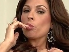 Bosomy sexy obscurity MILF Kirsten Price poses naked. She shows off their way perfect diet willingly. Hot MILF babe exposes their way overweight boobs and nicely trimmed pierced pussy.