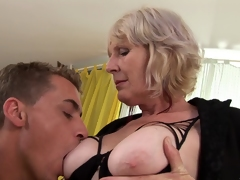 A oversexed granny acquires a on target lasting longing and loves every toady