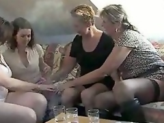 Lesbian party for granny