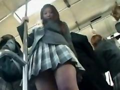 Schoolgirl upskirt more than teach