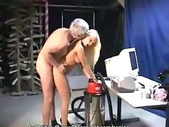 Older man releases his inflexible stumble