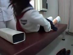 Jap schoolgirl fingered there voyeur erotic knead clasp