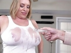 This chubby milf gets duct sprayed unembellished not far from their connected everywhere slay rub elbows encircling same manner chest everywhere slay rub elbows encircling strong right arm connected everywhere heinousness of he puffy nipples show scan the