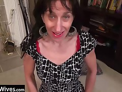 Older matured little one can't live without to play with will not hear of slim body and masturbating merely