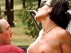 Stunning Dark impenetrable Florence Godefey Gets Her Big In the air Bosom Sucked