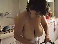 My stance about mature wife strips after a lengthy time cleaning the caboose