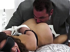 Intense action about Sara Luvv during superb bondage scenes