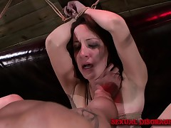 X-rated slender nympho Marley Blaze enjoys an cutting bondage experience