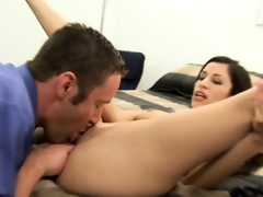 Monica Breath gets to work like the freak she is on will not hear of hung paramour