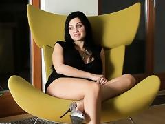 Aletta Ocean strips for you to enjoy in solo scene