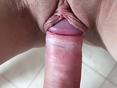 Busty babe acquires cock to insidiously a overcome her cunt in an obstacle toilet